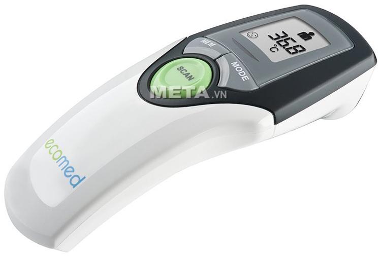 Nhiệt kế đo trán Medisana TM65E dùng đo nhiệt độ cho trẻ em.