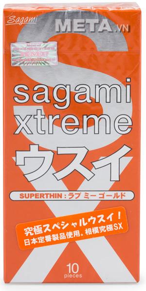 Bao cao su Sagami Love Me Gold Red có nhiều gel bôi trơn