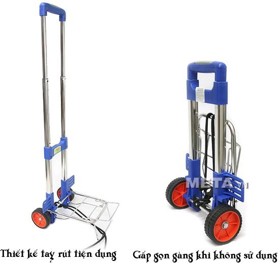 Xe đi chợ đa năng RTV 450S có thể gấp gọn một cách dễ dàng khi không sử dụng đến