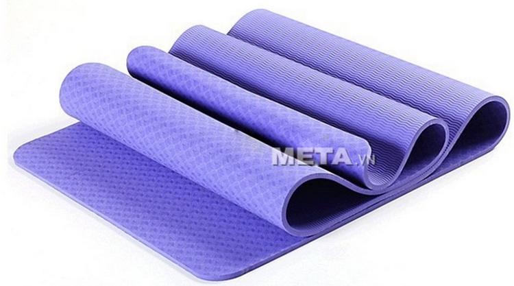 Thảm Yoga TPE 8 ly màu tím nhạt