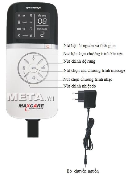 Cấu tạo bảng điều khiển của máy massage mắt Maxcare Max565