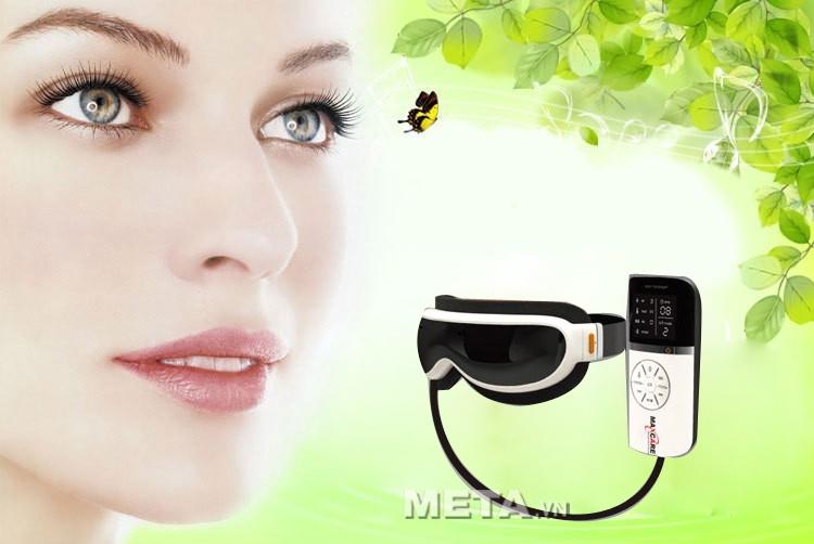 Chăm sóc đôi mắt mỗi ngày với máy massage mắt Maxcare Max565