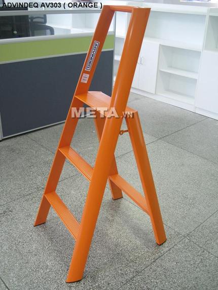 Thang nhôm Đài Loan AV303 (Orange) thiết kế 3 thuận tiện cho người sử dụng
