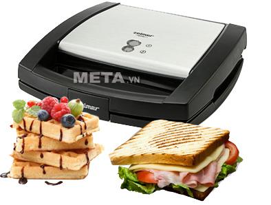 Máy nướng bánh Zelmer 26Z013 Black giúp bạn tự tay chuẩn bị món bánh mỳ sandwich thơm ngon cho mọi người trong gia đình.