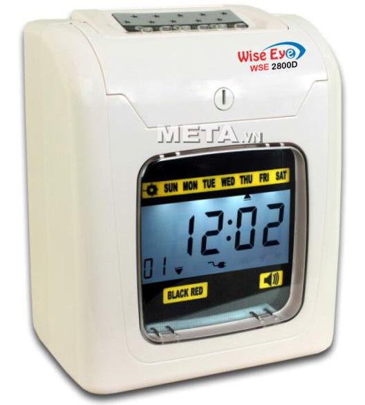 Máy chấm công thẻ giấy Wise Eye 2800D dùng quản lý nhân viên tại xí nghiệp, nhà xưởng.