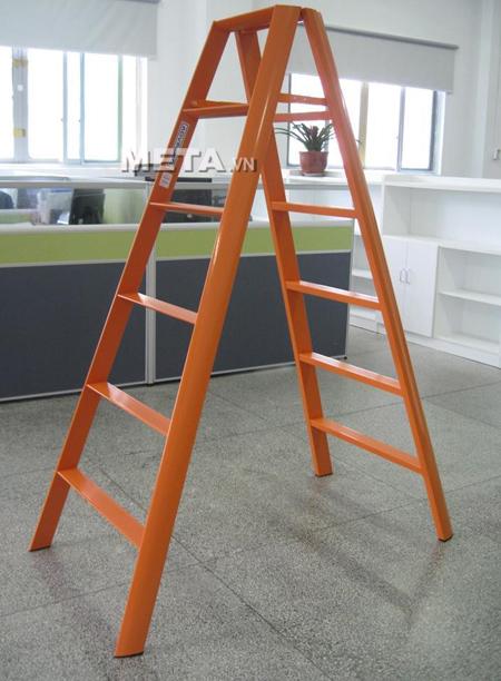Thang nhôm chữ A Đài Loan 12 bậc Advindeq AV306 (Orange) cao cấp