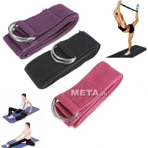 Dây tập yoga được làm từ chất liệu cotton, bền và đẹp