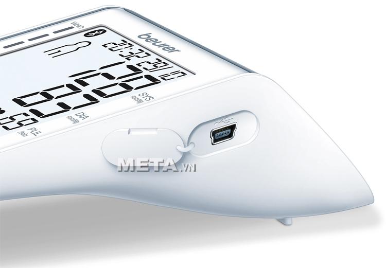 Cổng kết nối dữ liệu của máy đo huyết áp bắp tay Bluetooth Beurer BM85