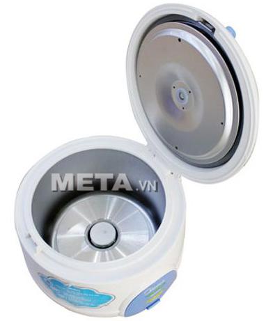 Nồi cơm điện Midea MR-CM06SB 0.6 lít thiết kế nắp gài dễ vệ sinh.
