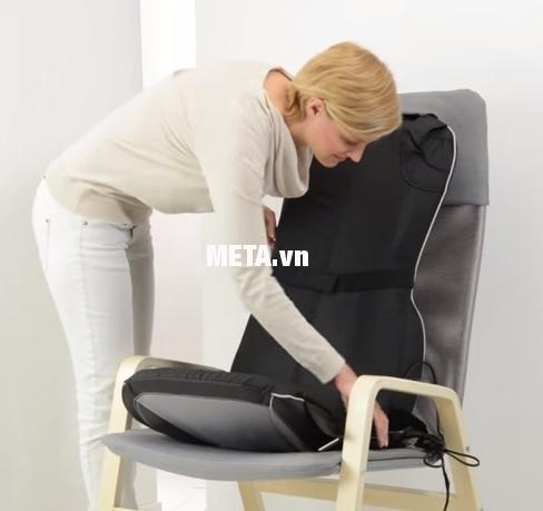 Mặt sau của đệm massage 3D hồng ngoại Beurer MG295