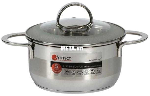 Xoong inox 5 đáy Celestine 20cm 2355276 gồm 5 lớp đáy, giúp nấu ăn cực nhanh, tiết kiệm gas.