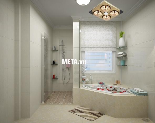 Đèn sưởi nhà tắm Kottmann 4 bóng âm tường K4BT sử dụng phổ biến ở các khu chưng cư, biệt thự, khách sạn.