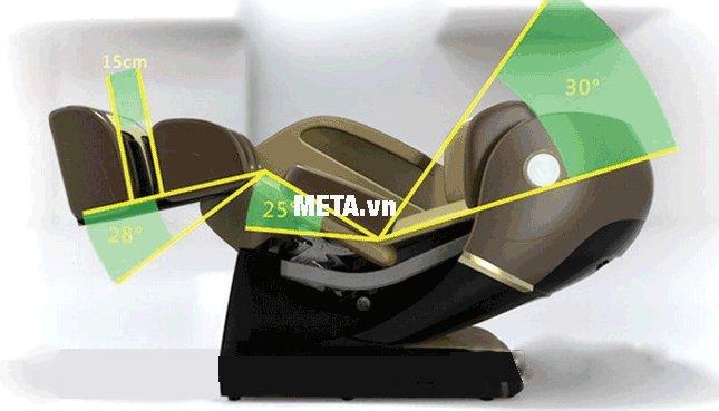 Ghế massage toàn thân Maxcare Max-4D thư giãn với tư thế không trọng lực