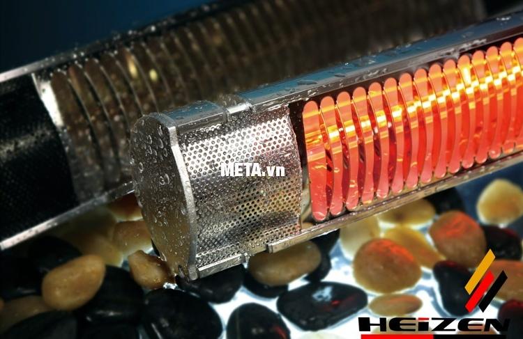 Đèn sưởi nhà tắm không chói mắt có điều khiển Heizen HEIT-R an toàn tuyệt đối khi nước bắn vào.