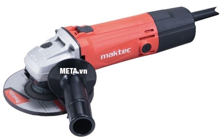 Máy mài góc Maktec MT963 có tay cầm phụ, giúp mài không bị rung.