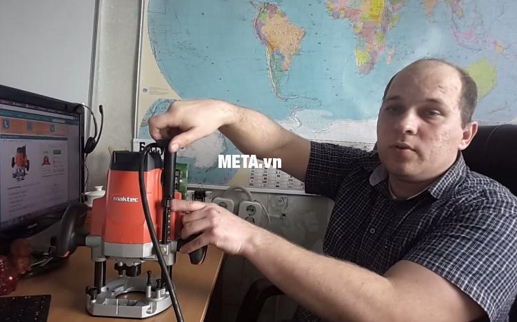 Máy phay Maktec MT362 nhỏ gọn nhưng mạnh mẽ.