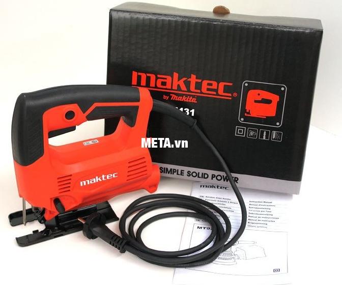 Máy cưa lọng Maktec MT431 có hộp đựng sang trọng.