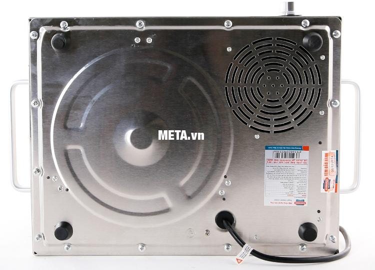 Bếp hồng ngoại cảm ứng Sunhouse SHD6018 có quạt tản nhiệt giúp thoát hơi nóng nhanh.