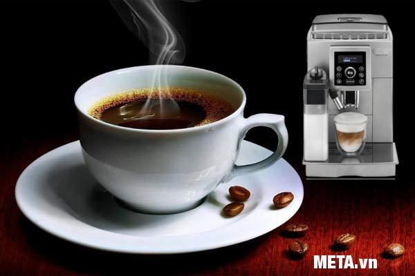 Máy pha cà phê Delonghi ECAM 23.460.S có thiết kế hiện đại và đáp ứng các tiêu chuẩn nghiêm ngặt về chất lượng
