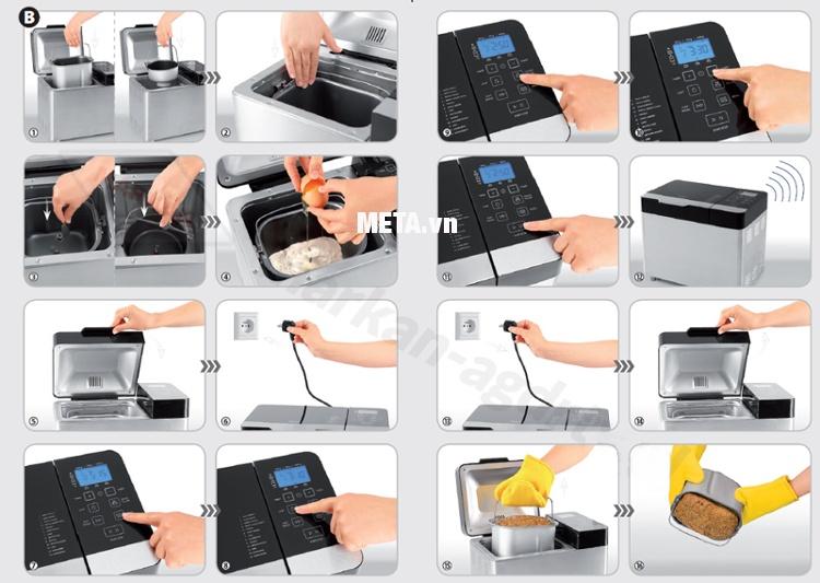 Máy làm bánh mỳ Zelmer ZBM1600X (BM1600) sử dụng đơn giản, tiện lợi.