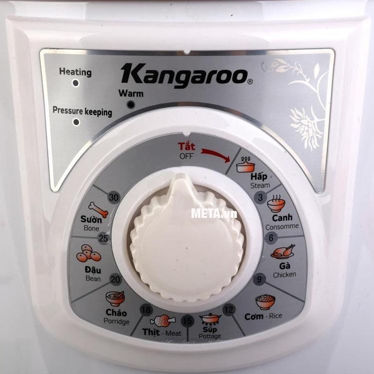 Nồi áp suất đa năng Kangaroo KG136 dễ dàng sử dụng với núm xoay điều khiển cơ.