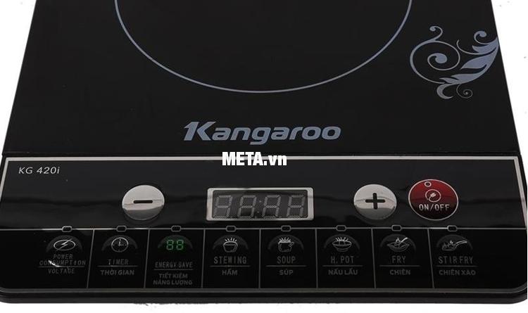Bảng điều khiển của bếp từ Kangaroo KG420i