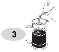 Đổ nước đun sôi vào bình pha cà phê Bialetti kiểu Pháp 1L 990003190