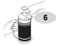 Kết thúc quá trình pha cà phê với bình pha cà phê Bialetti kiểu Pháp 1L 990003190
