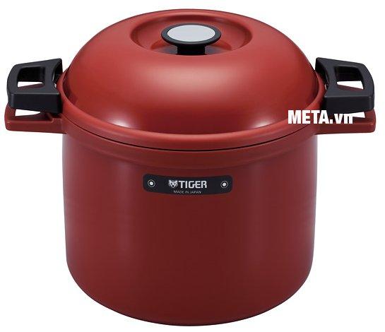 Hình ảnh nồi hầm Tiger NFH-G450 4,5 lít màu đỏ