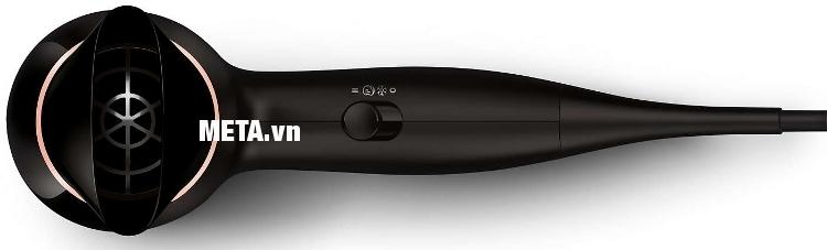 Máy sấy tóc Philips BHD004 có đầu sấy tập trung khí giúp tóc nhanh khô hơn.