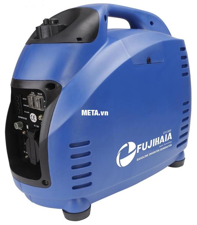 Máy phát điện biến tần kỹ thuật số Fujihaia GY1500 có tay cầm dễ dàng di chuyển.