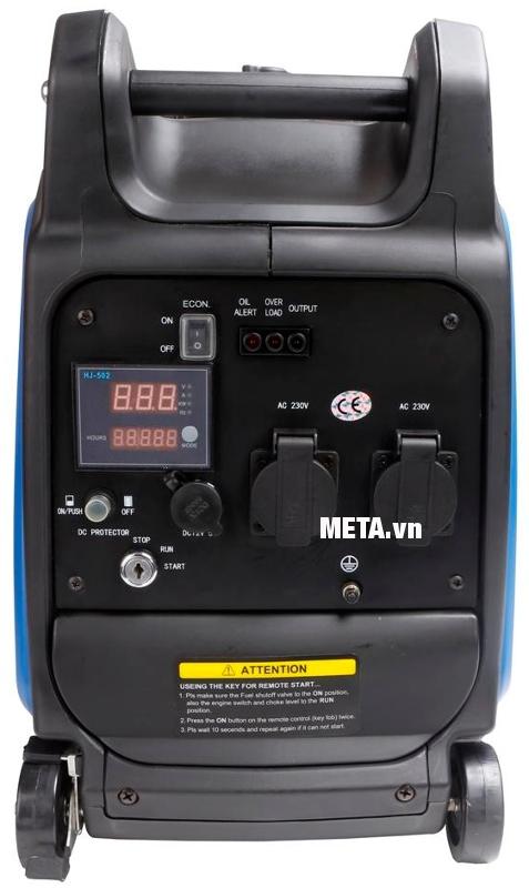 Máy phát điện biến tần kỹ thuật số Fujihaia GY2600E có bánh xe, giúp di chuyển đến bất cứ vị trí nào bạn muốn.