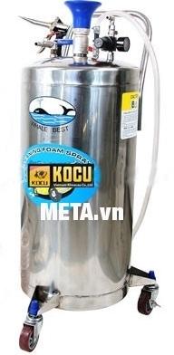 Bình bọt tuyết Kocu inox 304 bình cao (90 lít) tạo bọt tuyết nhanh chóng, dễ dàng.
