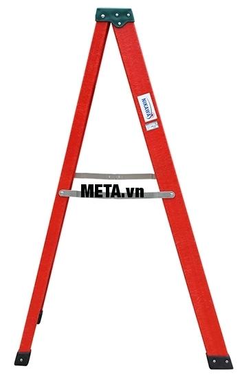 Thang cách điện chữ A Nikawa NKJ-6C có kết cấu khung thang vững chắc giúp leo trèo an toàn.