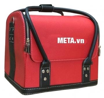 Túi da trang điểm Makeup Hando Pro 002 màu đỏ.