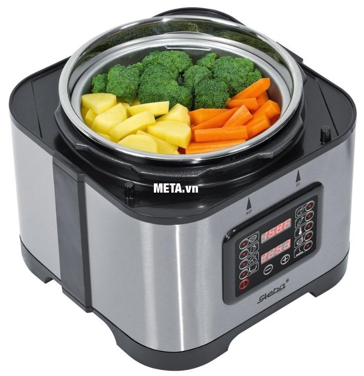 Nồi áp suất đa năng Steba DD1 ECO nhiều chức năng giúp bạn chuẩn bị bữa ăn dễ dàng hơn.
