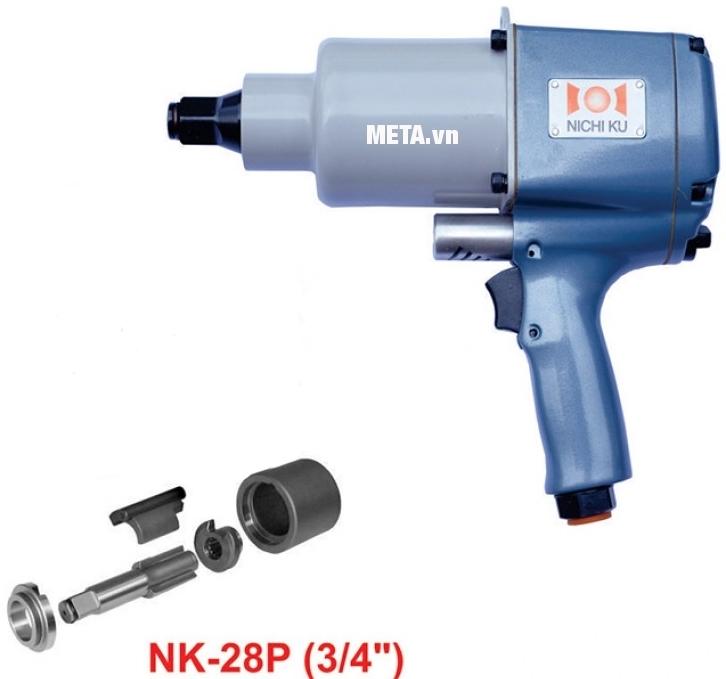 Súng vặn bu lông Nichiku NK-28P với thiết kế hiện đại, dễ sử dụng.