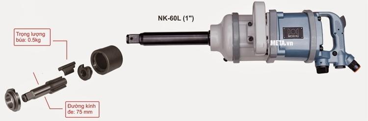 Cấu tạo của súng vặn bu lông Nichiku NK-60L (1