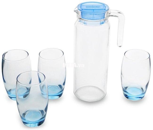 Bộ bình ly thủy tinh 5 món Rotterdam Ice Blue Luminarc - J1799 đảm bảo an toàn cho sức khỏe gia đình