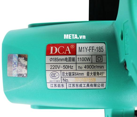 Máy cưa đĩa 1100W DCA AMY185 (M1Y-FF-185)có động cơ hoạt động mạnh mẽ và bền bỉ.