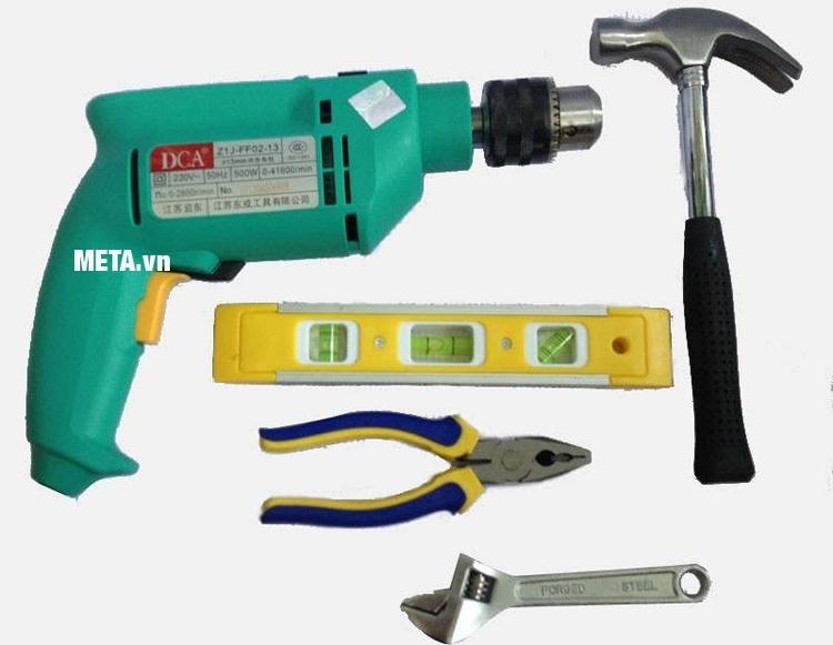 Bộ dụng cụ của máy khoan búa DCA Z1J-FF02-13.