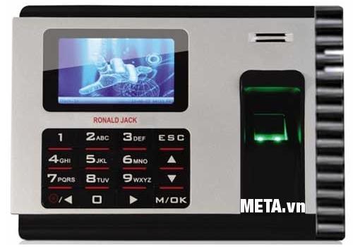 Máy chấm công vân tay và thẻ cảm ứng Ronald Jack có thể xuất ra bản excel thuận tiện.
