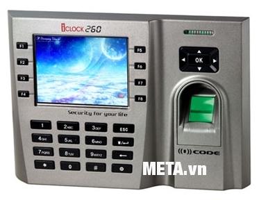 Máy chấm công vân tay và thẻ cảm ứng Ronald Jack ICLOCK 260 với thiết kế sang trọng.