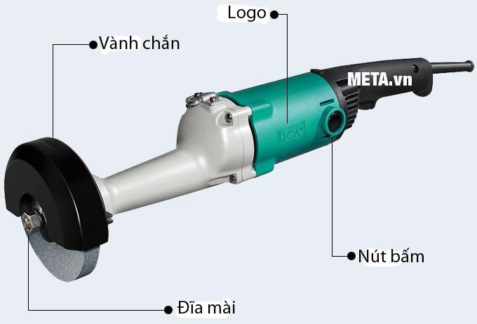 Cấu tạo của máy mài thẳng 710W DCA ASS125B (S1S-FF-125B)