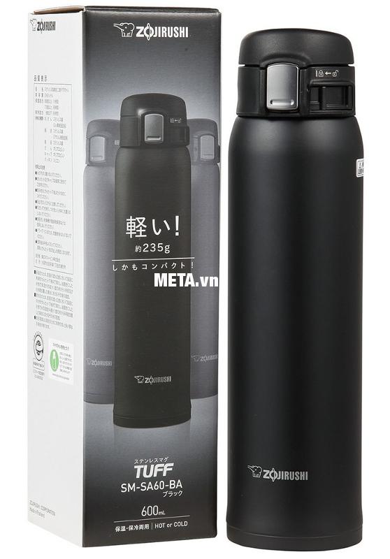 Bình giữ nhiệt nóng lạnh Zojirushi SM-SA60-BA giúp giữ nóng/lạnh hoàn hảo.