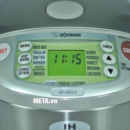 Bảng điều khiển thông minh của nồi cơm điện tử cao tần Zojirushi ZONC-NP-HBQ10-XA