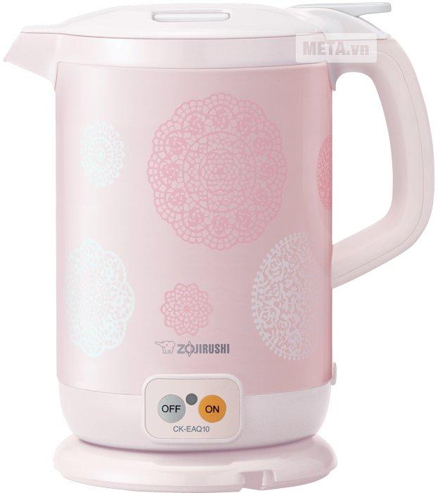 Bình đun nước siêu tốc Zojirushi CK-EAQ10PP màu hồng