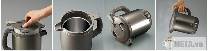 Bình đun nước siêu tốc Zojirushi CK-EAQ10 có dung tích 1 lít