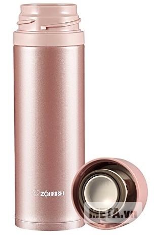Bình giữ nhiệt nóng lạnh Zojirushi SM-XB48 với màu hồng tươi trẻ.