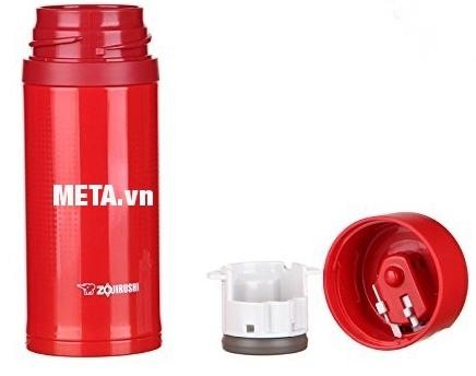 Bình giữ nhiệt nóng lạnh Zojirushi ZOBL-SM-XB36 dễ dàng tháo rời các bộ phận của nắp để vệ sinh.